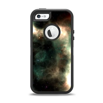 The Dark Green Glowing Universe Apple iPhone 5-5s Otterbox Defender Case Skin Set