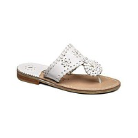 Young Girls' Palm Beach Miss Sandal in White by Jack Rogers
