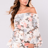I'm So Into You Romper - Ivory