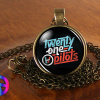 Twenty One Pilots 1 Music Band Necklace Antique Jewelry Glass Photo Pendant Gift