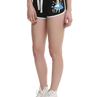 Disney Alice In Wonderland Curiouser & Curiouser Black Piped Shorts