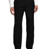 Geoffrey Beene Men's Black Solid Suit Separate Pant