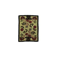 Homespice Decor Hooked Potted Flower Area Rug