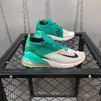 """""""Nike Air Max 270 Flyknit"""" Unisex Casual Fashion Multicolor Half Air Cushion Running Shoes Couple Sneakers"""