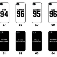 ALL IN - 5SOS - 5 Seconds of Summer - Ashton Irwin - Luke Hemmings - Michael Clifford - Calum Hood - for iPhone 4 / 4S / 5 / 5C / 5S