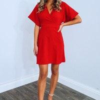 Talk The Talk Dress: Red