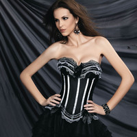 On Sale Hot Sale Hot Deal Coffee Drinks Cute Lace Corset Stripes Palace Push Up Cup [4965283652]
