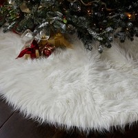Faux Fur Tree Skirt | Pottery Barn