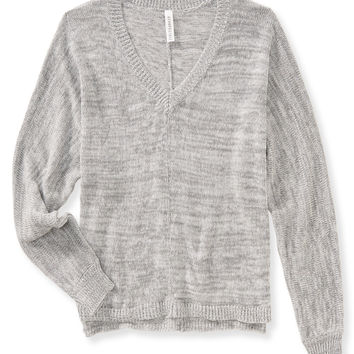 Aeropostale Womens Dolman V-Neck Sweater