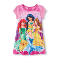 Long Sleeve Disney Ariel, Jasmine & Belle Graphic Gown | US Store