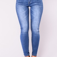 Glow With The Flow Booty Shaping Jeans - Medium