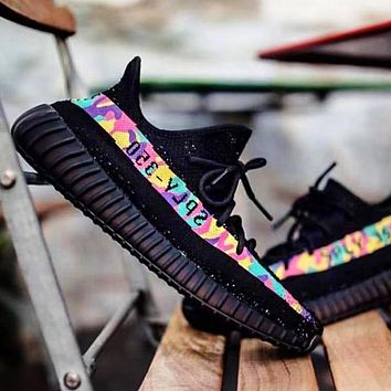 Vsgirlss ADIDAS YEEZY 350 BOOST X BAPE AAPE Shoes Colorful Camouflage Line SHOES SPORTS SNEAKERS
