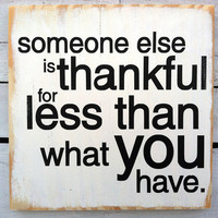 Wall Decor -Thankful Typography Wood Sign
