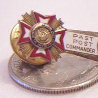 Veterans of Foreign Wars Pin Past Post Commander US Military Service Medal Unisex Jewelry Accessories