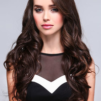 LONG LAYERED CURLS SYNTHETIC HALF WIG