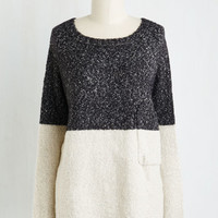 Colorblocking Mid-length Long Sleeve Colorblock Around the Clock Sweater