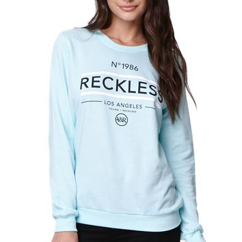 Young & Reckless Untouched Crew Fleece - Womens Hoodie - Blue