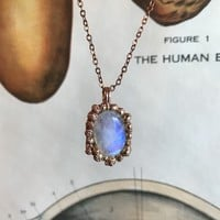 Orate Moonstone Pendant Necklace