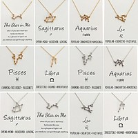 Zodiac Necklaces Wish Card