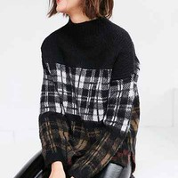 Silence + Noise Gunner Plaid Sweater - Urban Outfitters