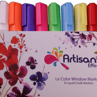 Artisan's Effect® Chalk Marker & Craft Markers 8 Pack for Chalkboards, Windows, Glass and Canvas.
