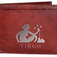 Virgo Sign Leather Wallets