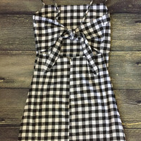 Check Mate Tie Back Dress