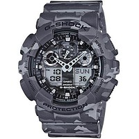 Casio Mens XL Trending G-Shock - Ana-Digi - Urban Gray Camouflage Design