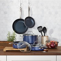 10 Piece Blue Diamond Ceramic Non-Stick Cookware Set