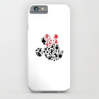 Girl mouse with the red bow iPhone & iPod Case by studiomarshallarts