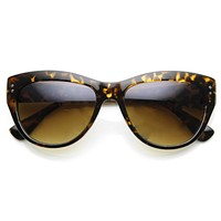 Womens Retro Riveted Cat eye Sunglasses 8996