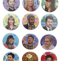 PARKS AND RECREATION BUTTONS