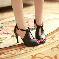 Sexy womens Peep Toe Stiletto Thin High Heel Pumps Party Office Ladies Shoes