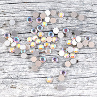 Faceted Round Acrylic Flat Back High Dome Cabochons in Clear or Jet Black - Jewellery and Craft Supplies 4 or 5mm diameter - quantity 20