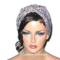 Handmade Brown Twist Turban, Animal Print, Cheetah