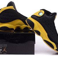 Air Jordan 13 Retro AJ13 Black/Yellow Basketball Sneak Size US 8-13
