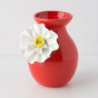 White Poppy Vase by Anthropologie Red M Vases