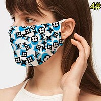 Louis Vuitton LV Newest Women Men Breathable Personality Printed Mask 4#