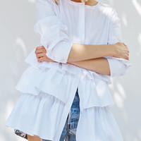 Kimchi Blue Poppie Tiered Blouse | Urban Outfitters