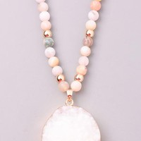 Beaded Stone Necklace (two options)