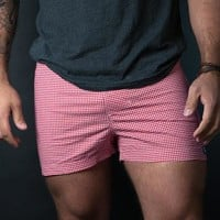 Red & White Gingham Boxer Short - Julio