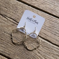 Verona Earrings, Gold