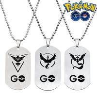 Awesome Pokemon Go Team Valor Team Mystic Team Instinct key chain necklace