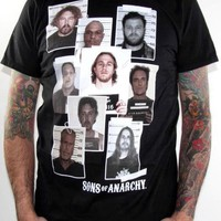 Sons Of Anarchy T-Shirt - Mugshot Collage