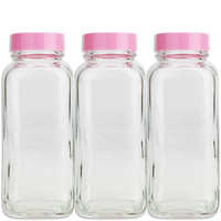Retro Glass Sprinkle Bottle - Pink Cap