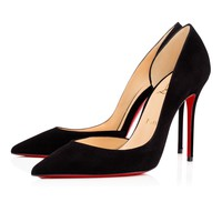 Iriza 100 Black Leather - Women Shoes - Christian Louboutin