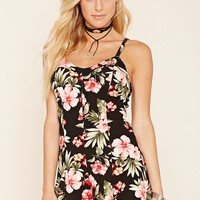 Floral Sweetheart Romper
