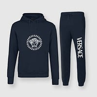 Versace Fashion Casual Top Sweater Pullover Hoodie Pants Trousers Set Two-Piece