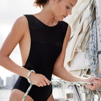 Free People Mesh One-Piece Swimsuit