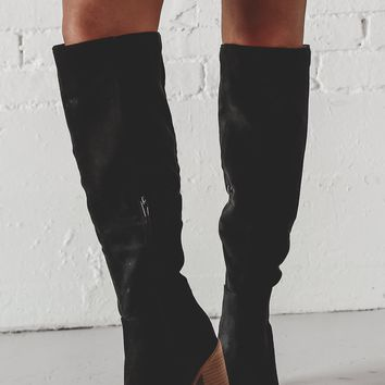 Can You Not Black Knee High Boots